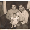 Phyllis and Jerry Dembo with Beth, Thanksgiving Day 1951.