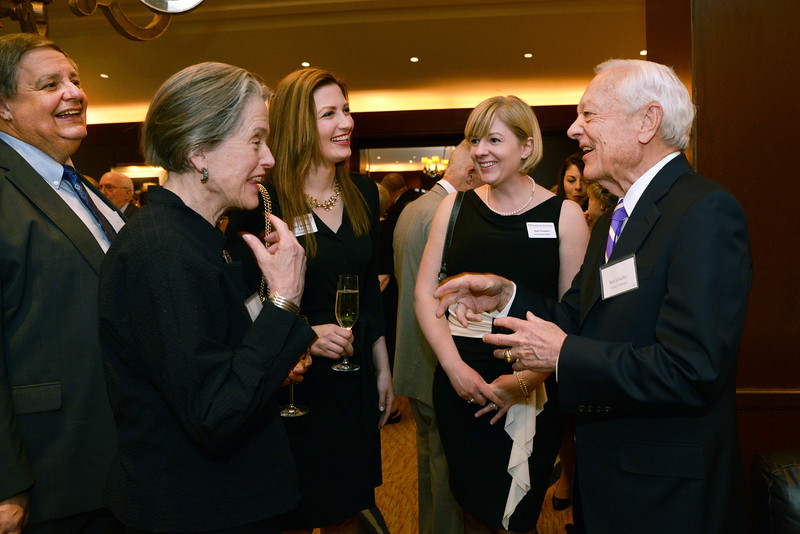 Trustee Peter Steingraber, Councilor Olivia Parker, Councilor Mary Tedesco, and Jean Powers with honoree Bob Schieffer.