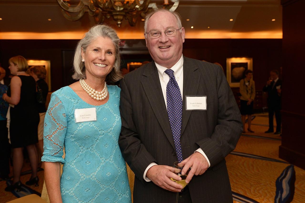Guests Joan Crowley and Frank Callahan.