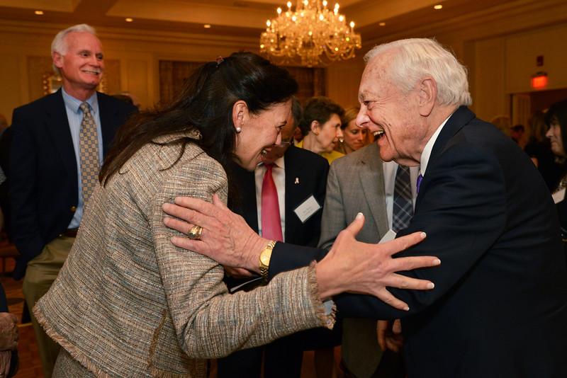 Honoree Bob Schieffer enjoying a lighter moment with MaryAnn Ekberg of Wells Fargo.