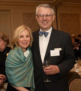 Dinner Benefactor Vivian Spiro of Boston, Mass., and Nicholas Gleysteen of Weston, Mass.