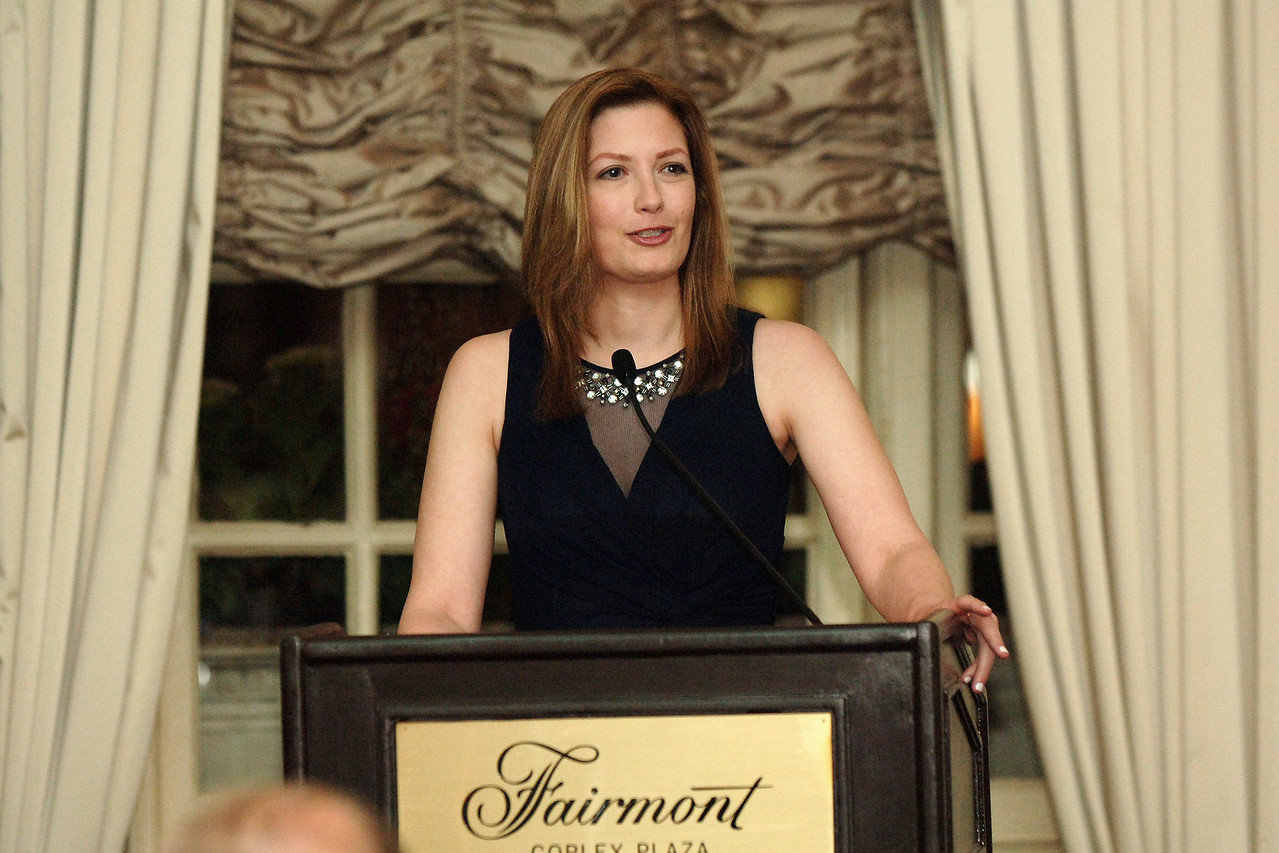 Co-Host Mary Tedesco at the podium