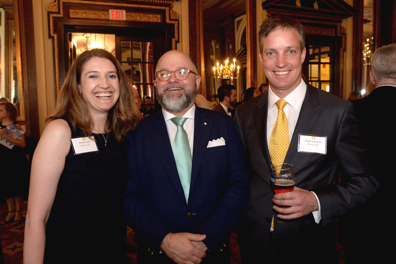 British Consul General to New England, Harriet Cross, with Brenton Simons, and her husband, Philip Saltonstall