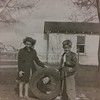 Carolee, Joyce (in tire), and Buddy (Clarence) Chaney