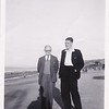 Sidney Godwin Hendy with friend, Bill at Colwyn Bay, North Wales.<br /> August, 1950