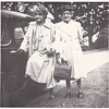 Clara and Isabel Gregg Hendy at Sandy.<br /> 1951