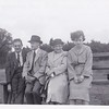 Bill (friend), Donald Gregg, Isabel Gregg Hendy and June (friend)<br /> Sand Hills at Sandy.<br /> 1951