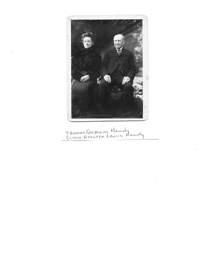 Clara Rosetta Lewis Hendy and Thomas Godwin Hendy<br /> (Parents to Sidney Godwin and Percival Thomas)