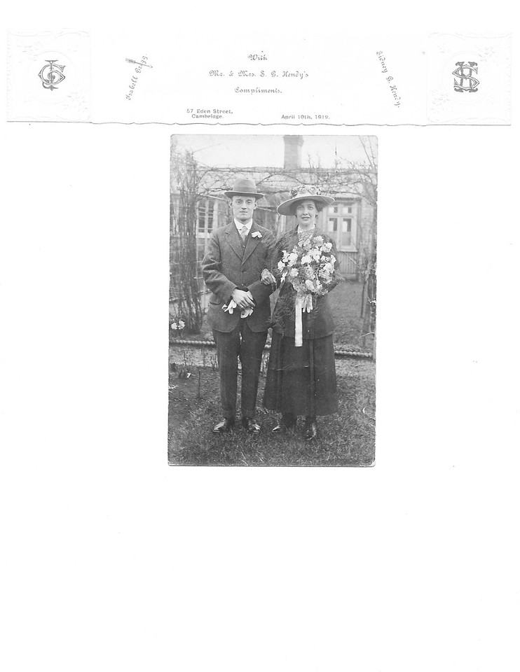 Wedding Announcement for Sidney Godwin Hendy and Isabel Gregg<br /> April 10, 1919