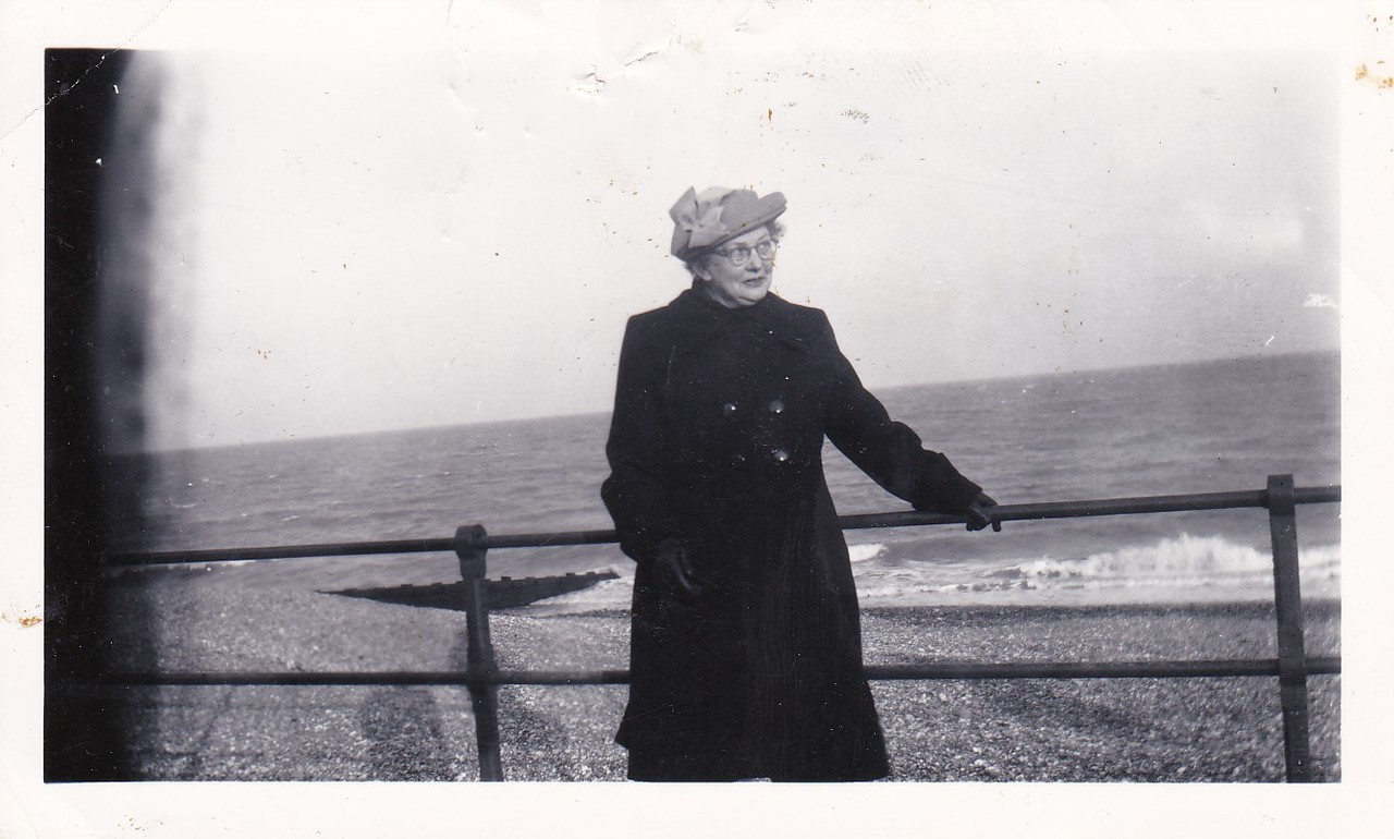 Isabel Gregg Hendy at Eastbourne<br /> April, 1954
