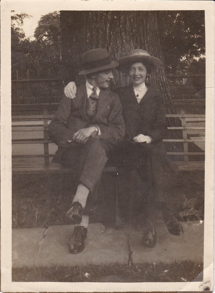 Uncle Don with his sister, Isabell Gregg Hendy<br /> Approx. 1920