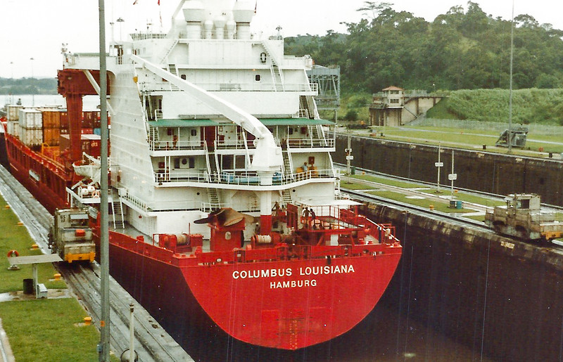 Panama Canal,  Panama- Columbus Louisiana Hamburg