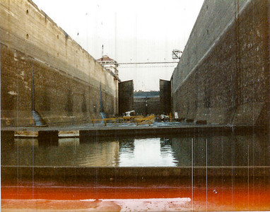 Drained lock of the Panama Canal.