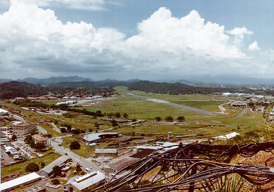 Overlooking Howard AFB in Panama