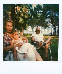 Marc, Grandpa & I (Jacksonville June 1981) Old poloroid didn't scan too well...mine and Gpa faces lol