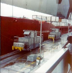 "Workhorses ""Mules"" Panama Canal"