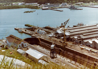 Panama Canal dockyard