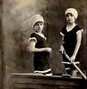 Luisa et Adele Fontanari, circa 1919-1920.