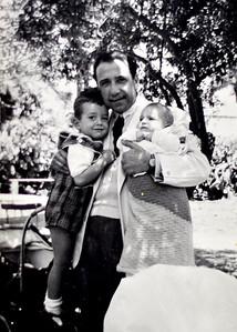 Emile avec Rafik et Raouf, 1949.