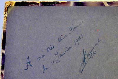 Album inscription.