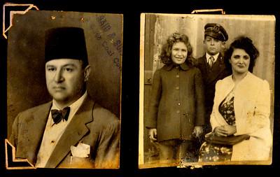 Left: Jules (père de Ima)  Right: Egizia (mère de Ima), Marie-Thérèse (Poppy) et Léandre (Kiko).