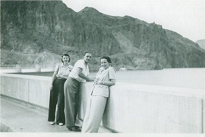Betty and George Bloom wedding trip to Las Vegas. This must be Boulder Dam