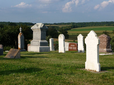 Madison Church cemetery looking to the Northeast