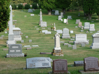 This is just a random shot of the Lutheran Cemetery in Decorah