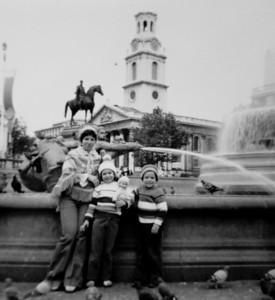 Trafalgar square, 1977.