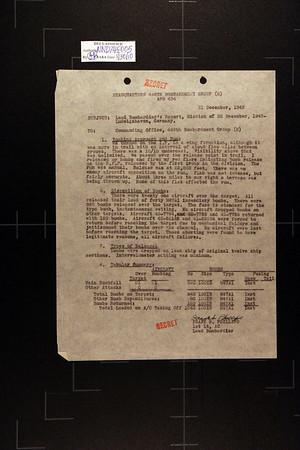 December 30, 1943 Mission Report