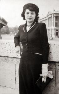 mom in Paris circa 1950