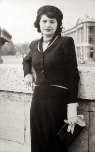 mom in Paris circa 1950