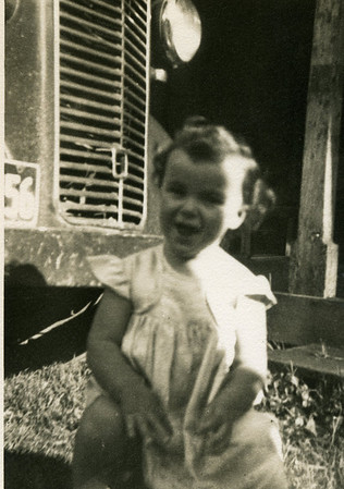Lesley Bray at Kynnumboon, New South Wales.. Taken about 1952.