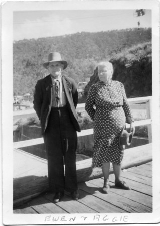 Ewen Maddock with his sister Agness Tolson (nee Maddock)  Taken at Somerset Dam, Queensland in August 1953  From my Grandmother's photo collection - May McGilvery.