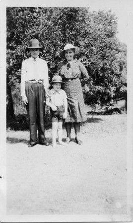 Maddock descendants Agness Tolson (nee Maddock) 1886-1995 with her two youngest sons Thomas Arthur Tolson (Tom) 1924-2001 and Malcolm David Tolson (living). Photo taken Christmas 1938 From my Grandmother's photo collection - May McGilvery.