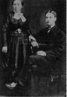 My great great grandparents - Alexander McGilvery (seated) and Ellen Farmer (standing). Alexander McGilvery born 1831 ( I don't know where) and died in 1881 at Danesfort, Kilshannig by Mallow, County Cork, Ireland. Ellen Farmer was born in 1832 in Millfort, Kilshannig by Mallow and died in 1901 in San Francisco, California, United States of America. They married in 1852 in Danesfort and I believe they had 15 children, 14 of which I have traced.  At least 7 died as infants.  4 children, Thomas, Richard, Ellen and Anne immigrated to America, 1 son, Edward immigrated to Australia, 1 son John enlisted with the 109th Regiment of Foot and died in Valetta, Malta.  After Alexanders death at the age of 50 years, Ellen joined her children in San Francisco, California where she died at 69 years of age.  This photo was given to me by Robyn Bennett, a McGilvery descendant.