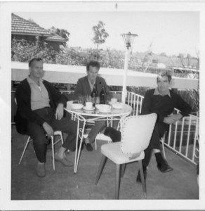McGilvery boys - sons of John & May McGilvery (nee Munro). Left to right - Don McGilvery, Tom McGilvery, Ted McGilvery Photo taken at Merrylands, Sydney
