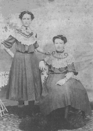 Sisters - Ellen & Annie McGilvery - my grandfather's sisters and daughters of Edward McGilvery & Albertine Parnemann. Ellen McGilvery (1889-1915) married William 'Bill' Carr in 1911. Annie McGilvery (1891-1992) - never married
