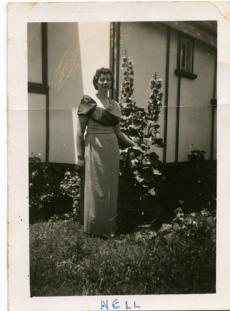 Nell  Nell has written on the back of the photo - 'This is the 'Paris Model'.  I look much better when I hold my head up & do my hair with the small rolls on the top & don't look as if I have all the worries in the world on me'.  Photo from my grandmother's collection - May McGilvery (nee Munro)