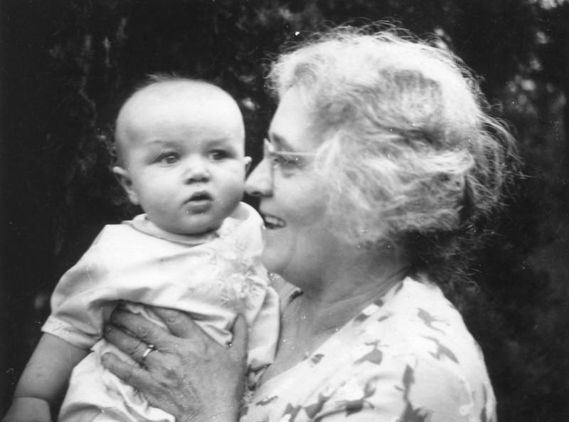 Clara Schneider Peters and Allen Johonson @ 6 months (1940)