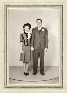 August 21, 1941.  Frankie & Ruben wedding