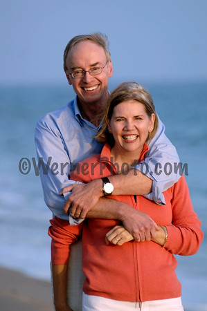 Elizabeth Warren and Bruce Mann on the Beach