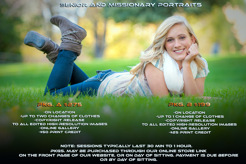 Senior Portrait Prices - rltphotography