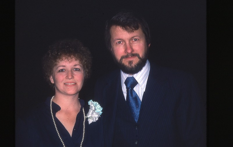 Uncle Al took this phote - Marilyn and Steve - Mar 80?