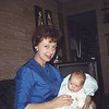 Lucile with Doug - May 67 ... 4 months old