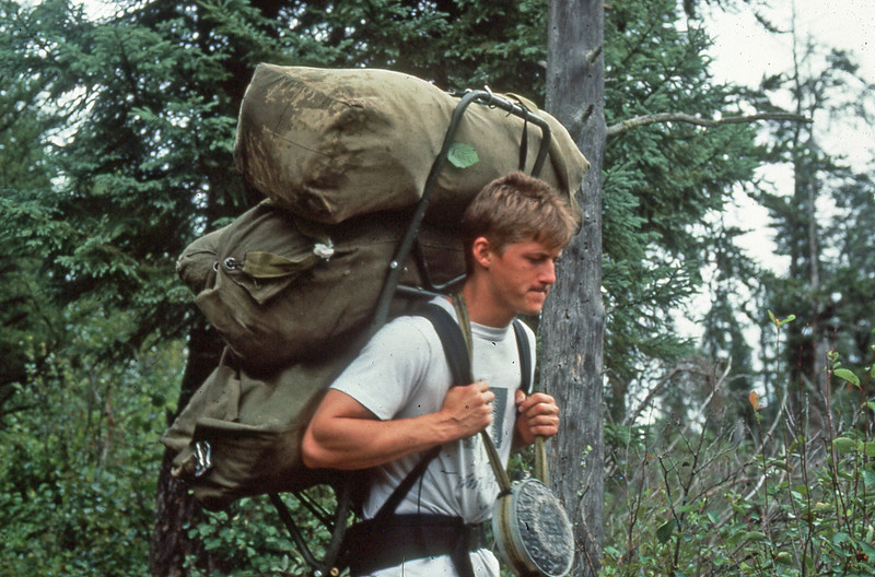 Doug carry 4 GI Duffle bags - 1987