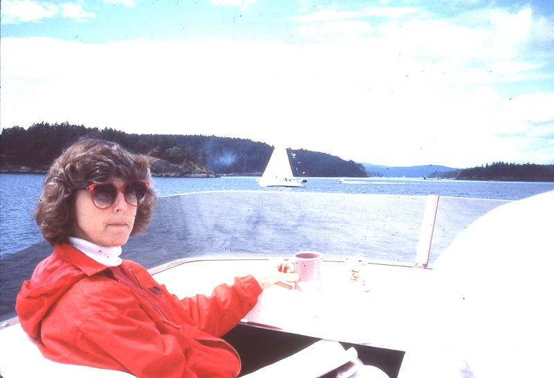 Elaine on Boat - July 89