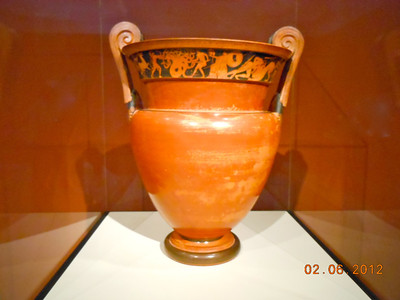 Mixing Vessel (Krater) with Andromeda Bound Greek made in Apulia South Italy 410-400 BCE Terracotta (4)