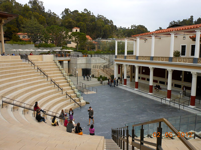 Getty Villa's Barbara and Lawrence Fleischman Theater is Hippolytos, the first major production of the Getty Villa's theater program and the inaugural presentation in the Villa's outdoor classical theater.