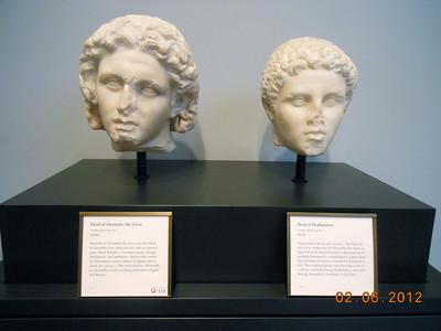 Alexander the Great and his lifelong companion Hephaistion Marble 320 BCE